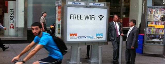 NYC to convert old pay phones to free wi-fi calls and charging stations