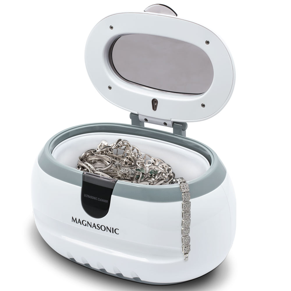 me	Magnasonic Professional Ultrasonic Polishing Jewelry Cleaner Machine for Cleaning Eyeglasses, Watches, Rings, Necklaces, Coins, Razors, Dentures, Combs, Tools, Parts, Instruments