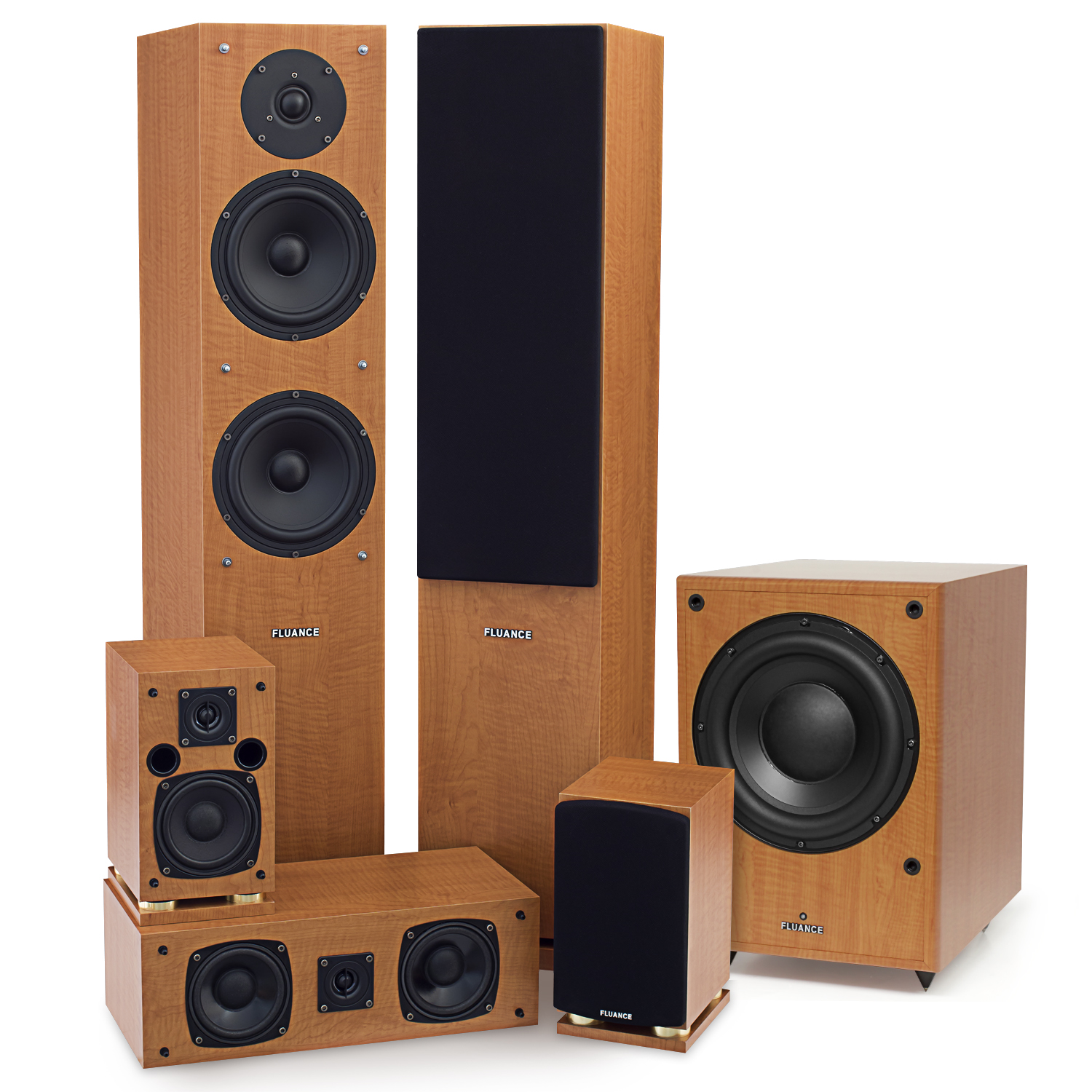 Fluance SX Series 5.1 Surround Sound Home Theater Speaker System